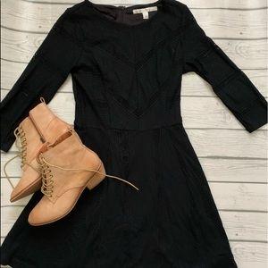 LC Lauren Conrad black fit and flare dress-medium